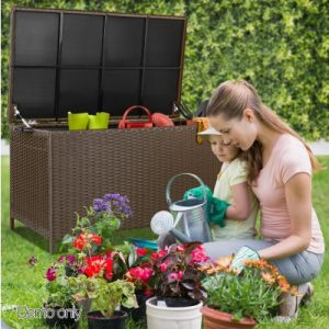 320L Outdoor Wicker Storage Box