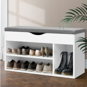 Wooden Shoe Rack Organiser - White