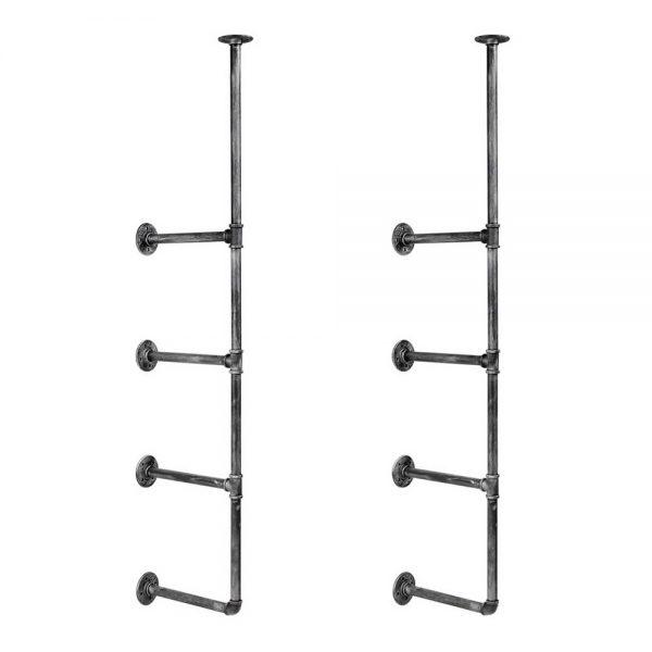 Metal Ceiling Pipe Shelf