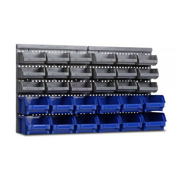 30 Bin Wall Mounted Rack