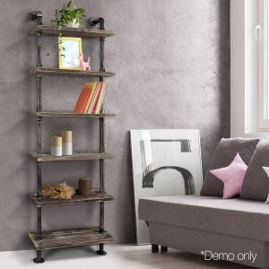 6 Level DIY Wooden Bookshelf