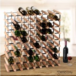 72 Bottle Timber Wine Rack
