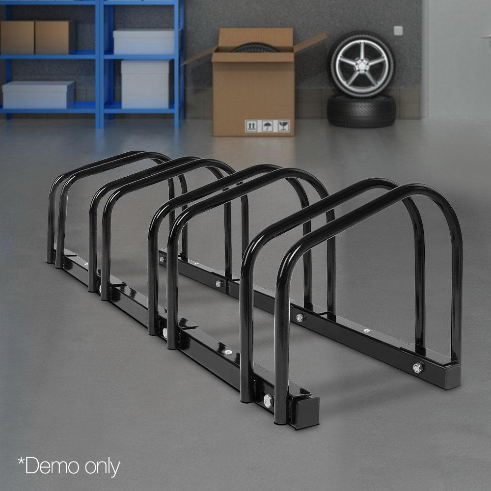 Portable Bike Parking Rack Black Complete Storage Solutions