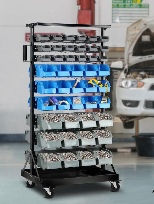 90-Bin Storage Rack Stand