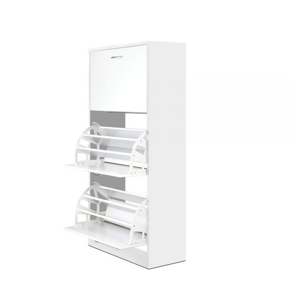 Wooden Shoe Cabinet with Storage
