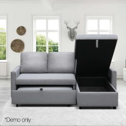 3 Seater Fabric Sofa Bed