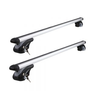 Universal Aluminium Car Roof Rack with Security Lock 1200mm Black
