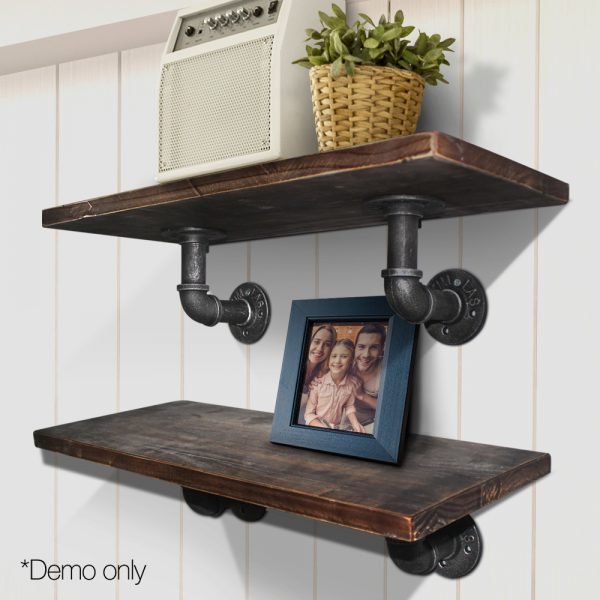Pipe Shelf Bracket Set