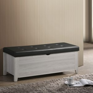 White Oak Storage Ottoman