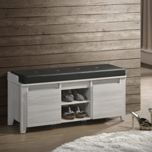 White Oak Storage Bench