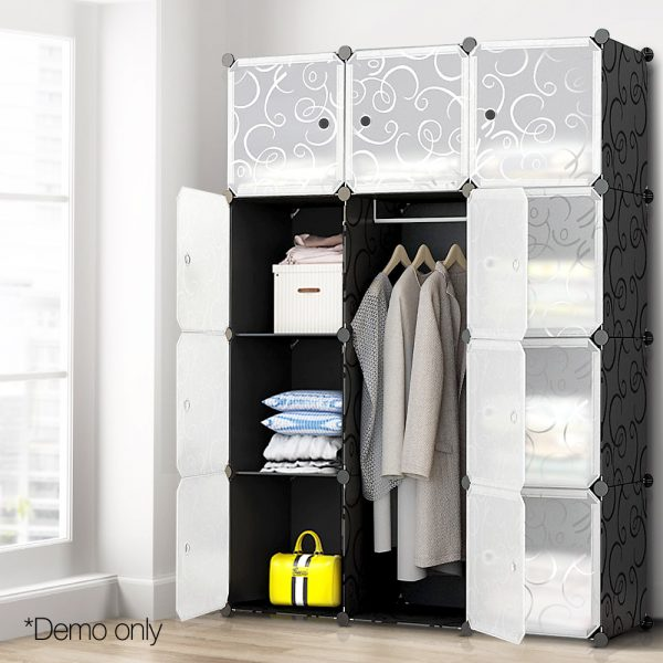 12 Stackable Cube Storage Cabinet