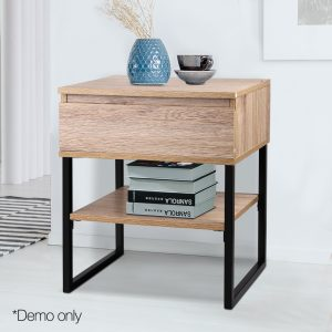 Metal Bedside Table
