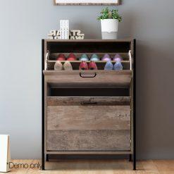 Wooden Vintage Shoe Storage Cabinet