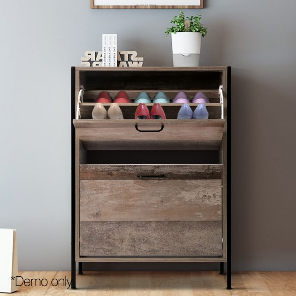 Wooden Vintage Shoe Storage Cabinet
