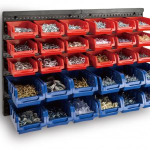 Bin Wall Mounted Rack Storage Organiser