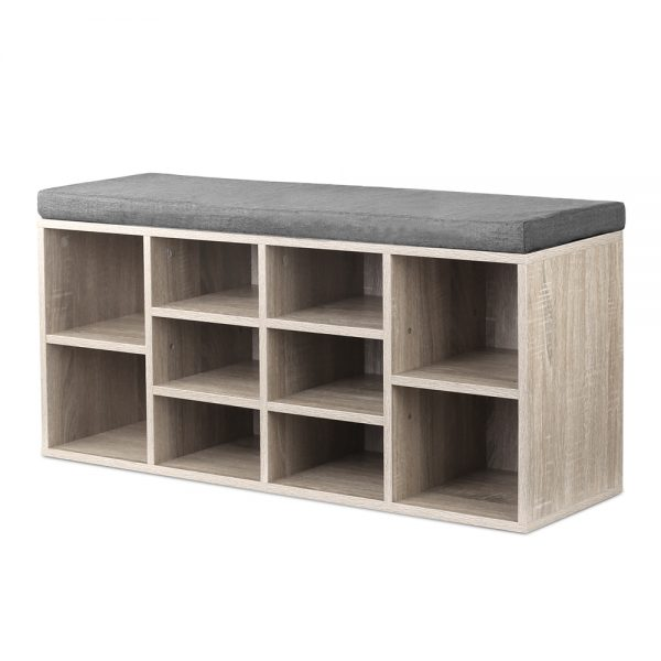 Shoe Bench with Storage Cubes