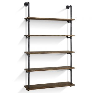 5-tier pipe shelf