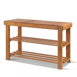 Bamboo Bench Shoe Rack