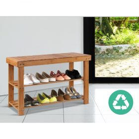 Bamboo Bench Shoe Rack
