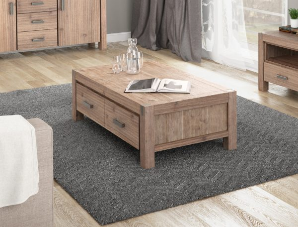 2 Drawer Coffee Table