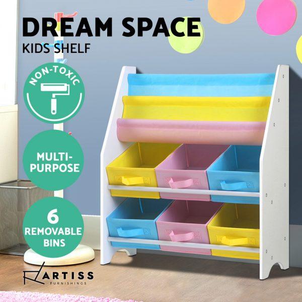 Kids Bookshelf and Toy Box