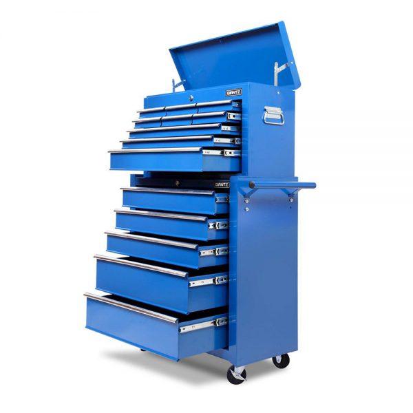 Blue Heavy Duty 14 Drawer Toolbox