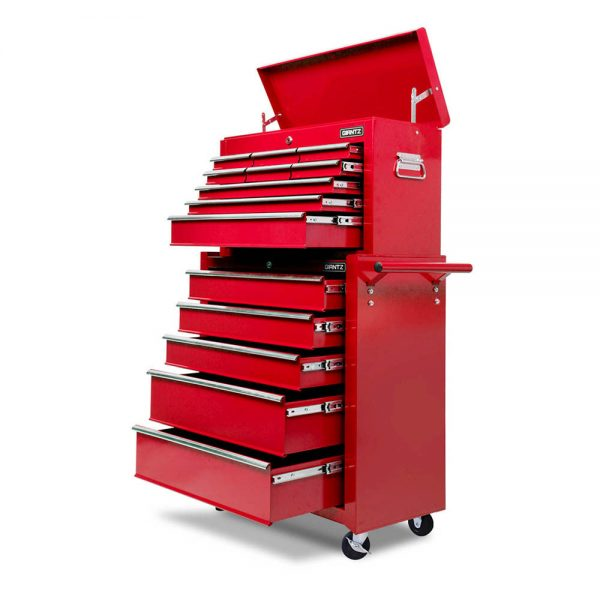 Red Heavy Duty 14 Drawer Toolbox