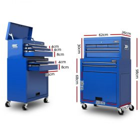 7-drawer Blue Tool Trolley