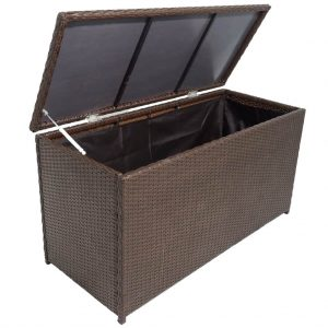 360L Garden Storage Box - Brown