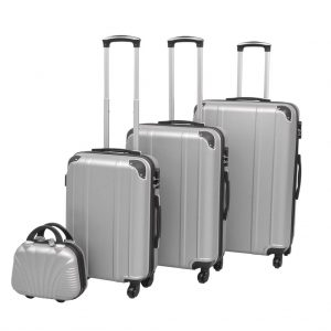 Four Piece Hard case Trolley Set - Silver