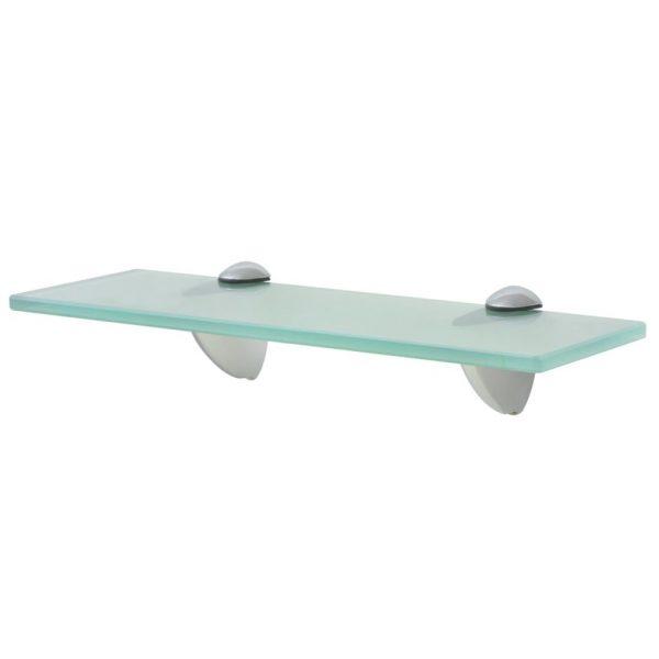 Clear Glass Floating Wall Shelf - 30cm x10cm
