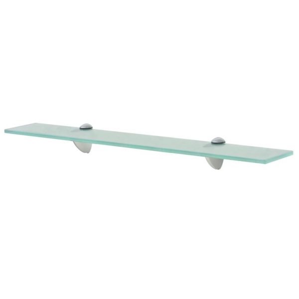 Clear Glass Floating Wall Shelf - 60cm x10 cm