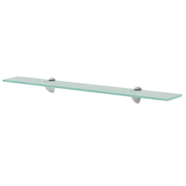 Clear Glass Floating Wall Shelf - 70cm x10 cm