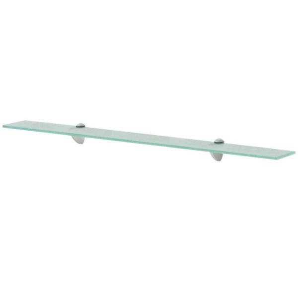 Clear Glass Floating Wall Shelf - 90cm x 10cm