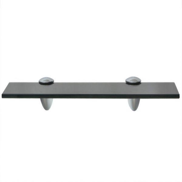Black Glass Floating Wall Shelf – 30cm x10cm