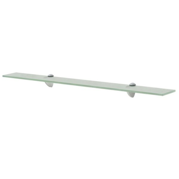 Frosted Glass Floating Wall Shelf - 80cm x10cm