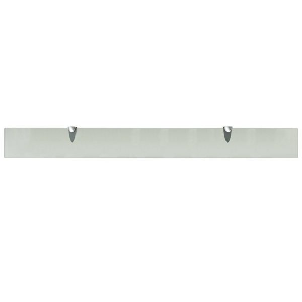 Frosted Glass Floating Wall Shelf – 100cm x 10cm