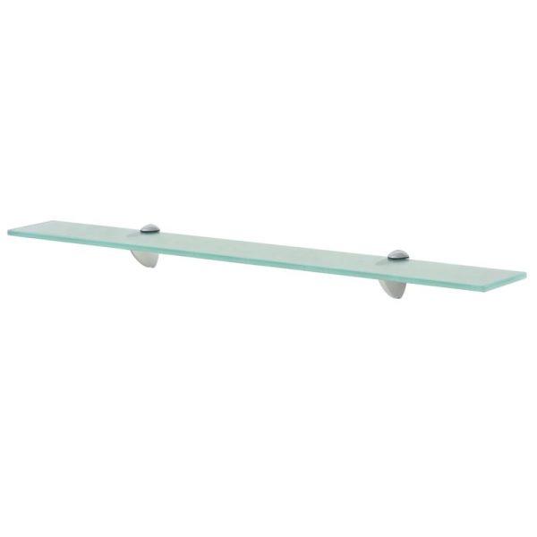 Clear Glass Floating Wall Shelf - 70cm x 20cm