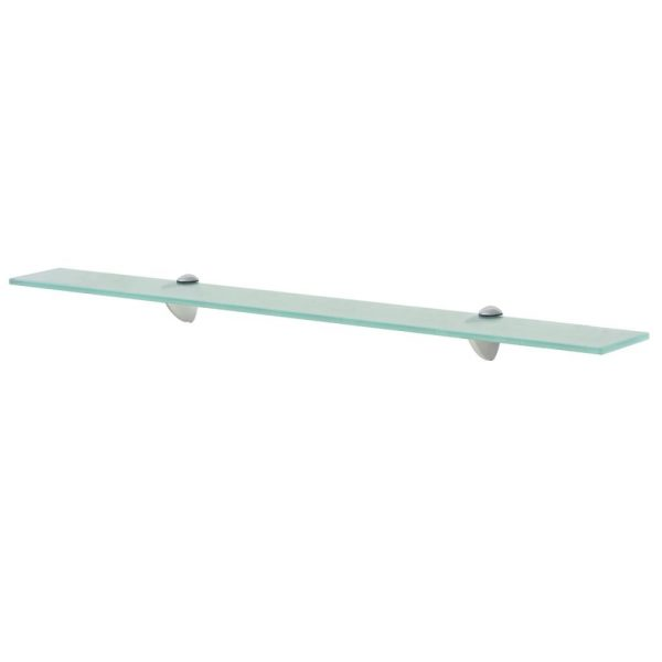 Clear Glass Floating Wall Shelf - 80cm x 20cm