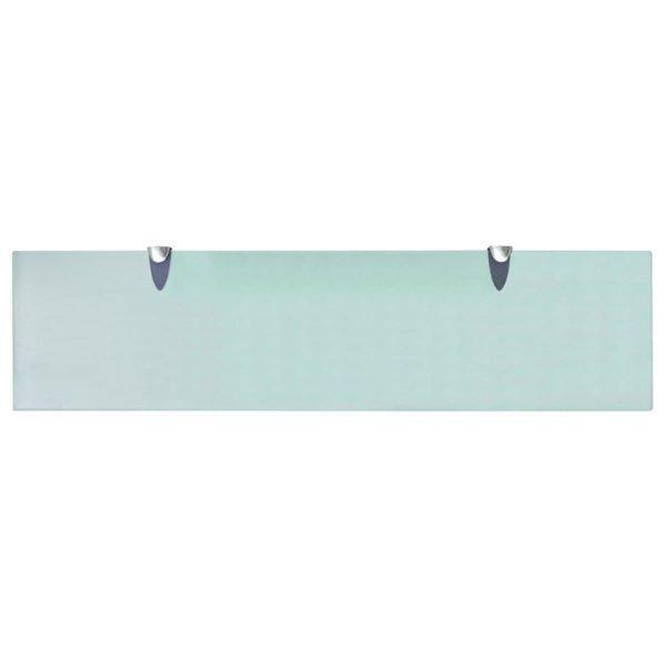 Clear Glass Floating Wall Shelf – 80cm x 20cm