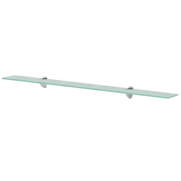 Clear Glass Floating Wall Shelf - 100cm x 20cm