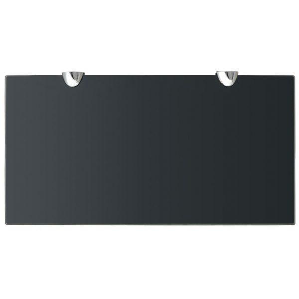Black Glass Floating Wall Shelf – 40cm x 20cm