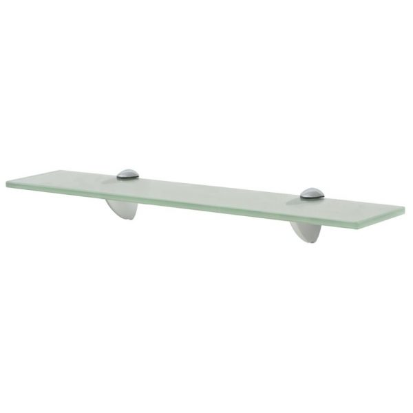 Frosted Glass Floating Wall Shelf - 50cm x 20cm