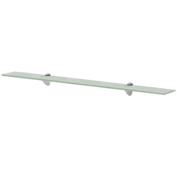 Frosted Glass Floating Wall Shelf - 90cm x 20cm