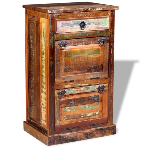 4-Layer Shoe Cabinet with Drawer Solid Reclaimed Wood