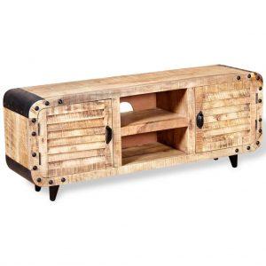 Solid Rough Mango Wood TV Cabinet