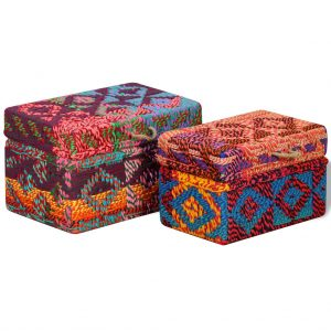 Multicolour Storage Boxes - Set of 2