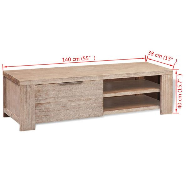 TV Cabinet – Solid Brushed Acacia Wood