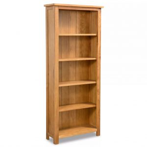 5-Tier Wooden Bookcase - Oak