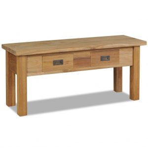 Solid Teak Hall Bench